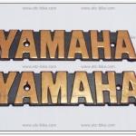 โลโก้ YAMAHA สีทอง 15cm.x3cm. (2ชิ้น/ชุด)