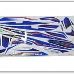 สติ๊กเกอร์ MIO-125 MX ปี 2012 รุ่น 8 ติดรถสีน้ำเงิน-ขาว