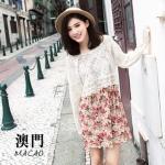 ♡♡pre-order♡♡ เซตชุดเดรสน่ารักๆ ใส่แยกเป็นเสื้อคลุมสีขาวแขนยาว กับ ชุดเดรสแขนกุด