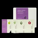 Preorder Innisfree Travel Pocket Pouch Set 이니스프리 트래블 포켓 파우치 세트 4500won ใน 1 กล่องมี 5 เซ็ท เซ็ทละ 4 pcs