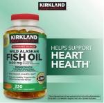 Wild Alaskan Fish Oil 1400mg 230 เม็ด รวมสารพัดOmegaถึง8ตัว สูงถึง1050mg ดูแลหัวใจ,ลดไขมันในเลือดครบ (สินค้าแนะนำ exp.11/2019 )