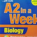หนังสือชีววิทยา ภาษาอังกฤษ A2 in a week : Biology พร้อมแบบฝึกหัดและเฉลย