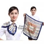 ผ้าพันคอจัตุรัส ผ้าพันคอ uniform รหัส S10 - size 60 x 60 cm