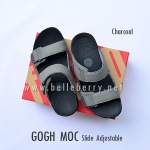* NEW * FitFlop Men's : GOGH MOC Slide : Charcoal : Size US 12 / EU 45