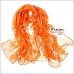 ผ้าพันคอแฟชั่น ลายลิง Paul Frank : สีส้ม CK0396
