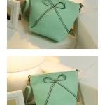 """""""พร้อมส่ง""""กระเป๋าแฟชั่นAxixi กระเป๋าสะพายติดโบว์ด้านข้าง น่ารัก -สีเขียว"""