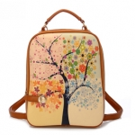 """""""พร้อมส่ง""""กระเป๋าแฟชั่น Beibaobao กระเป๋าเป้ ถอดสายได้ ทรงสวย สายซิปเอามาล็อกด้านหน้าได้ เก๋ค่ะ ด้านหน้ามีลายน่ารักๆ -ลาย4ซีซั่น"""