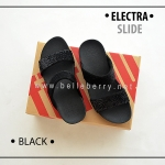 * NEW * FitFlop Electra Slide : Black : Size US 6 / EU 37