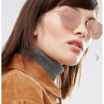 Ray-Ban Hexagonal Sunglasses in Classic Gold with Rose Gold Lens RB3548 COLOUR: 001/z2