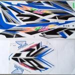 สติ๊กเกอร์ SONIC-2007 ลายแต่ง สีฟ้า (สีแปลง)