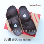 * NEW * FitFlop Men's : GOGH MOC Slide : Chocolate Brown : Size US 08 / EU 41