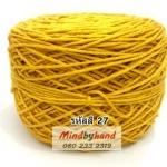 เส้นฝ้ายอินโด รหัสสี 27 สีเหลืองมัสตาด