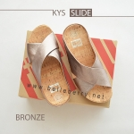* NEW * FitFlop : KYS Slide : Bronze : Size US 6 / EU 37