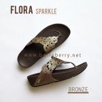 **พร้อมส่ง** รองเท้า FitFlop FLORA Sparkle : Bronze : Size US 8 / EU 39