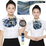 ผ้าพันคอสำเร็จรูป ผ้ายูนิฟอร์ม uniform ผ้าไหมซาติน : L41