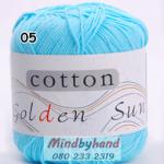 ไหมพรม Cotton 100% รหัสสี 05 Baby Blue