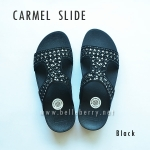 **พร้อมส่ง** FitFlop : CARMEL Slide : Black : Size US 7 / EU 38