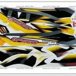สติ๊กเกอร์ SPEED ปี 2002 ติดรถสีเหลือง
