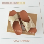 * NEW * FitFlop : Lulu Cross Slide : Gold : Size US 5 / EU 36