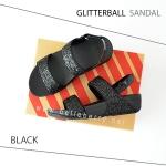 * NEW * FitFlop : GLITTERBALL Sandal : Black : Size US 8 / EU 39