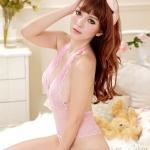 ชุดนอนซีทรุเท็ดดี้สีชมพู ลูกไม้สวยมาก ผ้านิ่มากค่ะ