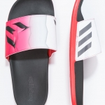 adidas Performance ADILETTE CF - Sandals - core black/granit/red