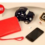 """""""พร้อมส่ง""""กระเป๋าใส่ iPhone แบบซิปรอบ ใบใหญ่ -สีแดง"""