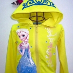 """size 12t """"พร้อมส่ง""""Brand GAP เสื้อกันหนาวเอลซ่าสีเหลือง -size 12t"""