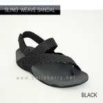 * NEW * FitFlop : Sling Mens Weave Sandal : Black / Dark Shadow : Size US 12 / EU 45