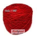 ไหมเบบี้ซิลค์ (ฺBaby Silk) รหัสสี 027 สีแดง
