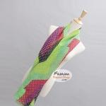 ผ้าพันคอแฟชั่นลายจุด Polka Dot : สีเขียว CK0257