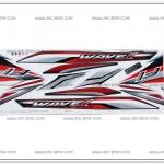 สติ๊กเกอร์ WAVE110-I ปี 2016 รุ่น 23 ติดรถสีขาว-ดำ