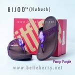 **พร้อมส่ง** FitFlop Bijoo ( Nubuck ) : Pomp Purple : Size US 8 / EU 39