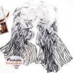 ผ้าพันคอแฟชั่นลายผีเสื้อ White Butterfly : สีขาว CK0009