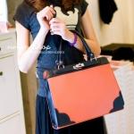 กระเป๋าแฟชั่น Vivian กระเป๋าถือใบใหญ่ทรงสวย มีสายสะพายให้ -สีชมพู