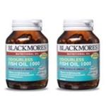 Blackmores Odourless Fish Oil 60 แคปซูล 2 ขวด น้ำมันปลาแต่งกลิ่นวนิลา ไร้กลิ่นคาว ให้โอเมก้า-3 บำรุงสมอง ช่วยลดลดคอเรสเตอรอล