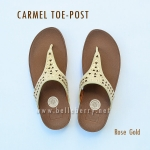 **พร้อมส่ง** FitFlop : CARMEL Toe-Post : Rose Gold : Size US 9 / EU 41