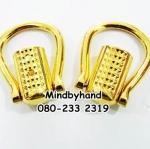ที่ใส่สายหูกระเป๋า (หูท่อต่อห่วง) เกือกม้ายาว สีทอง (ท่อมีลาย)