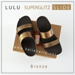 FITFLOP LULU SUPERGLITZ SLIDE : BRONZE : US 6 / EU 37