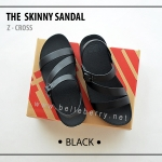 FitFlop The Skinny Z-Cross : Black : Size US 5 / EU 36
