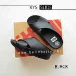 รองเท้า FitFlop : KYS Slide : All Black : Size US 7 / EU 38