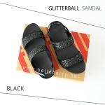 * NEW * FitFlop : GLITTERBALL Sandal : Black : Size US 9 / EU 41