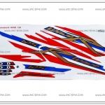 สติ๊กเกอร์ WAVE125-R ปี 2005 รุ่น 11 ลายธงชาติ