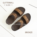 * NEW * FitFlop : GLITTERBALL Slide : Bronze : Size US 8 / EU 39