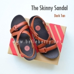 * NEW * FitFlop The Skinny Sandal : Dark Tan : Size US 8 / EU 39