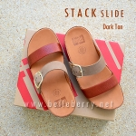 **พร้อมส่ง** FitFlop Stack Slide : Dark Tan : Size US 8 / EU 39