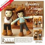 แพทเทิร์นตุ๊กตาถักคันทรี่บอย คันทรี่เกิร์ล (Country Couple)