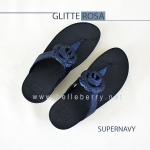* NEW * FitFlop GLITTEROSA : Supernavy : Size US 7 / EU 38