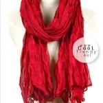 ผ้าพันคอแฟชั่น Cotton Candy : สี Red