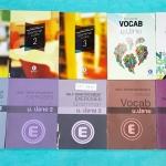 ►ครูพี่แนน Enconcept◄ SET 6819 หนังสือภาษาอังกฤษ ม.ปลาย Grammar + Vocab + Reading Full Set 10 เล่ม แบ่งออกเป็นหนังสือเรียน 5 เล่ม แบบฝึกหัด 5 เล่ม เฉพาะหนังสือเรียนเล่ม 1 มีจดเยอะ และเล่มแบบฝึกหัด Vocab มีจดบ้าง นอกนั้นใหม่เอี่ยม ไม่มีรอยขึดเขียน แบบฝึกหั